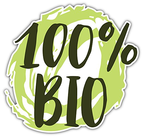 SkyBug 100 Percent Bio Organic Label Bumper Sticker Vinyl Art Decal for Car Truck Van Window Bike Laptop