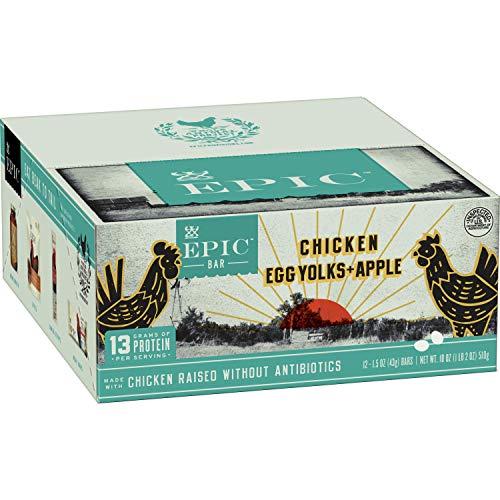 EPIC Chicken Egg Yolk & Apple Protein Bars Whole30, Paleo Friendly, 12 ct