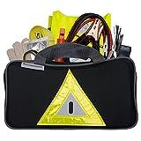 Secureguard Roadside Emergency Kit Includes – First Aid Kit, Jumper...