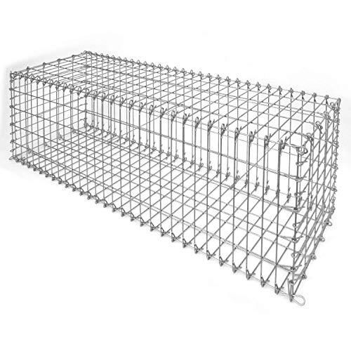 bellissa Ösengabione Profi - 97107 - Gabionenkorb mit Steckverbindung - Dekorativer Steinkorb als Zaun oder Mauer für den Außenbereich - 150 x 50 x 50 cm