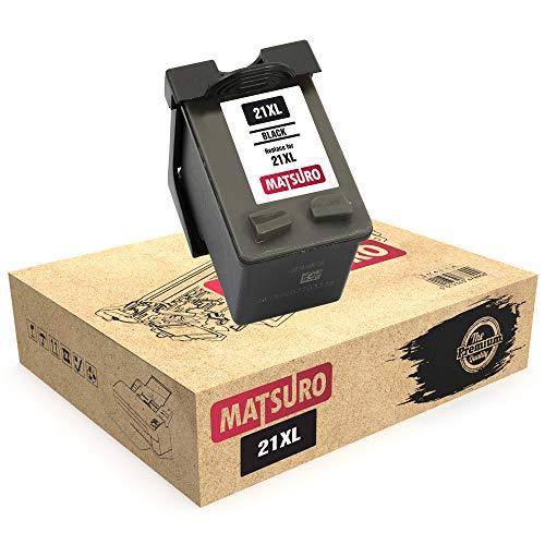 Matsuro Original   Kompatibel Remanufactured Tintenpatrone Ersatz für HP 21XL (1 SCHWARZ)