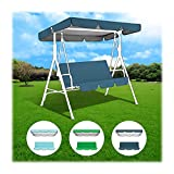 ZHANGXJ 3 Seater Replacement Swing Canopy, Sky Blue Outdoor Cover Top and Swing Seat Cover Canopy Outdoor Waterproof Anti-UV (Color : Blue, Size : 195cm X 125cm X 15cm)
