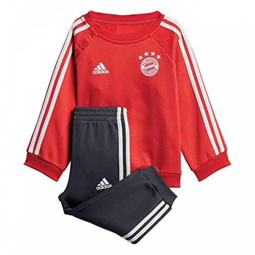 adidas Baby FC Bayern 3S Jogginganzug, FCB True red/Carbon/Grey one, 92