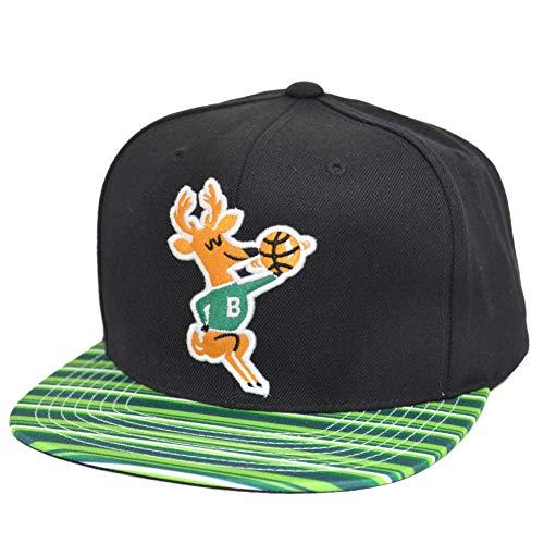 Mitchell & Ness Gorras Milwaukee Bucks Team DNA Black/Green Strips Snapback