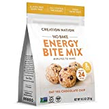 NO-BAKE ENERGY BITE MIX ~ Makes 24 delicious ENERGY BALLS, BITES, COOKIES. 'Oat Chocolate Chip' is Gluten Free, Vegan, Soy Free, Coffee Free. Easy, fun, no baking