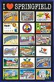 1art1 Die Simpsons Poster und Kunststoff-Rahmen -