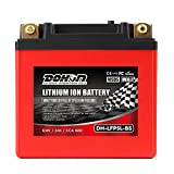 DOHON LiFePO4 Motorcycle Battery 12A 165CCA Rechargeable 5L-BS Replacement LFP Battery for YUASA Yamaha Motorbike