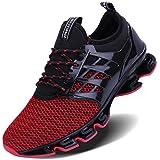 POPULO Men's Breathable Sport Shoes Knit...