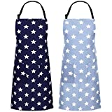 birdsunshine - Grembiule da donna con 2 tasche in cotone e lino, per cucinare, cuocere, fai da te, griglia, 2 colori