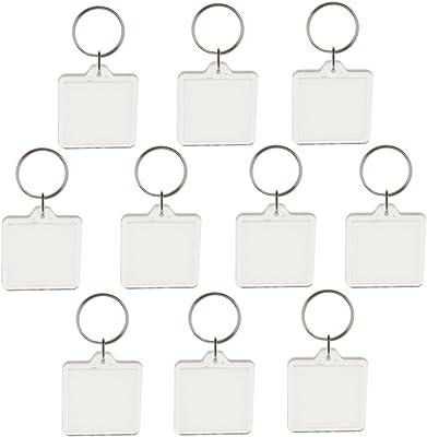 Amazon.com: OULII en blanco Photo Llavero rectángulo 4 x 5.6 ...