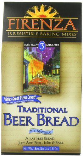 Firenza Beer Bread Mix, Traditional, 18 Ounce
