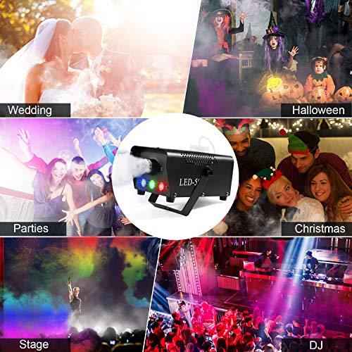 AONCO Nebelmaschinen 500W Verbesserte mit Drahtloser Fernbedienung und Bunter Licht für Feiertage, Hochzeiten,Theater Party Club DJ Effekt - 7