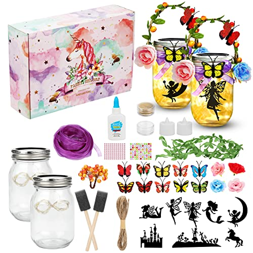 Hicdaw 140PCS Fairy Lantern Craft Kits for Girls Gifts Age 6 Crafts DIY Fairy...