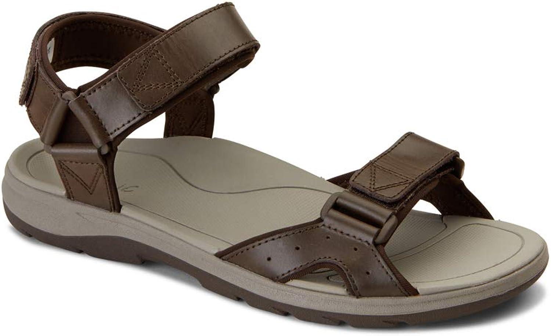 Vionic Men's Canoe Leo Backstrap Sandal - Adjustable Sandals with Concealed Orthotic Arch Support