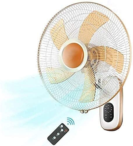 """JUNCAN Best for Home Use Home Remote Control Restaurant Wall Fan Wall Mounted Cooling Wall Fan Remote Control 16 Inch,3 Speed,Quiet Operation,5 Blades,Modern Eco Oscillating Fans 12"""""""