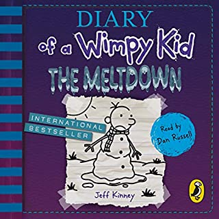 The Meltdown     Diary of a Wimpy Kid, Book 13              Written by:                                                                                                                                 Jeff Kinney                               Narrated by:                                                                                                                                 Dan Russell                      Length: 2 hrs and 23 mins     3 ratings     Overall 4.0