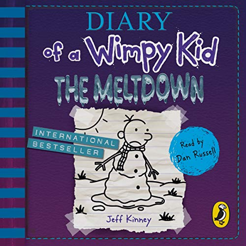 The Meltdown     Diary of a Wimpy Kid, Book 13              By:                                                                                                                                 Jeff Kinney                               Narrated by:                                                                                                                                 Dan Russell                      Length: 2 hrs and 23 mins     106 ratings     Overall 4.6