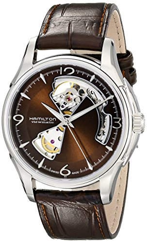 Hamilton Herren Analog Automatik Uhr mit Leder Armband H32565595