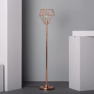 LEDKIA LIGHTING Lampadaire Fugalaau 1500xØ300 mm Cuivre E27 Aluminium pour Décoration Salon, Chambre, Cuisine