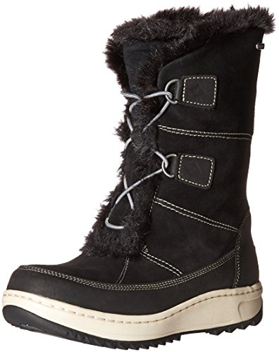 Sperry Women's Powder Valley Snow Boot, Black, 8 M US