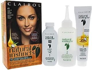 Clairol Natural Instincts Hair Color, 4R Rosewood (Dark Auburn Brown) 1 Kit