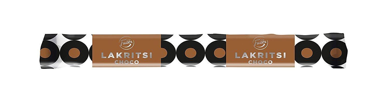 Fazer lakritsi Choco–Relleno–Caja de regaliz–Regaliz–Gelatina Free–Caramelos–Caramelos–Negro–30sticks x 20g
