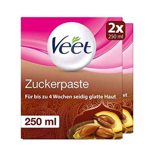 Sugaring Zuckerpaste zur Haarentfernung 2er Pack für spürbar glatte Haut für bis zu 4 Wochen Veet Zuckerpaste 2x250ml