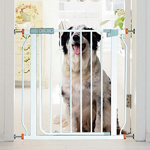 Buy Bargain Huo Baby Safety Gates for Stairs Extra Wide Fence Corridor Isolation Railing Pet Door Bar Dual Lock Auto Close (Size : 111-118cm)