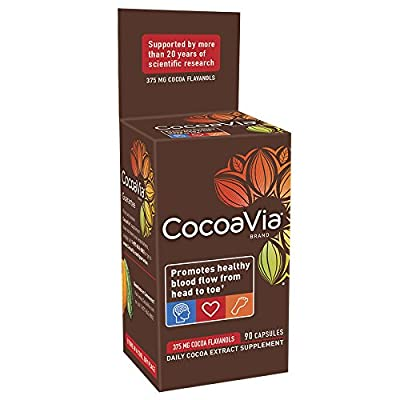 Cocoavia Supplement, Promotes Healthy Blood Flow, Vegetarian Capsules, 375Mg Cocoa Flavanols, 30-Day Supply