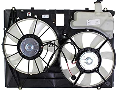 Garage-Pro Cooling Fan Assembly for TOYOTA SIENNA VAN 2006-2010 3.5L Engine Dual Type