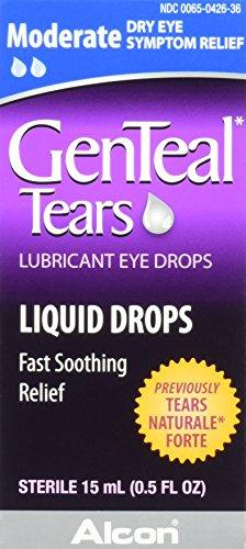 GenTeal Tears Lubricant Eye Drops, Moderate Liquid Drops, 15-mL
