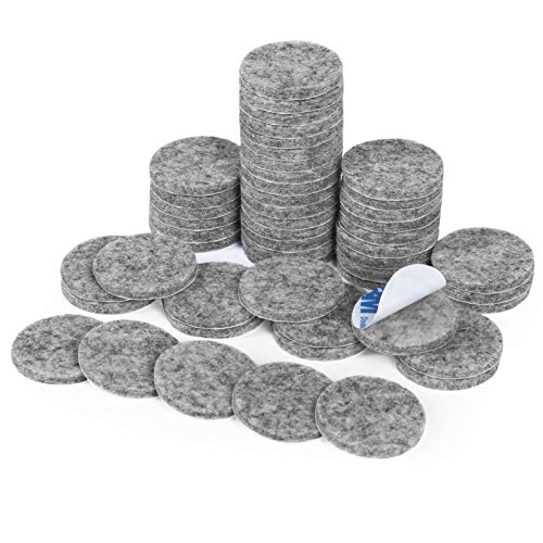 Filz Pad, 50 Stück Möbelgleiter Selbstklebend Filzgleiter Bodengleiter für Möbel Stühle Bodenschützer(Grau)
