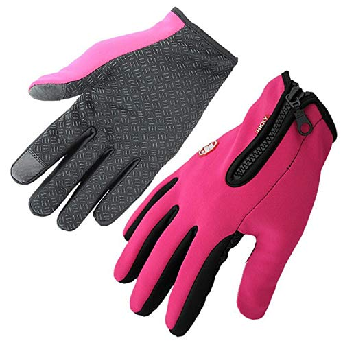 Comfortabele Outdoor Handschoenen Winter Wanten Touched Screen Handschoenen Waterdichte Mannen Vrouwen Warm Winddicht Fiets Anti Slip Wanten Ski Fietshandschoenen L G016 1 Warm Rose