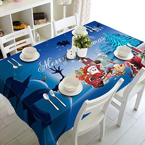 CBVG Home Cubiertas de Mesa rectangulares para Fiestas Adornos navidenos Manteles navidenos Cocina Decoraciones para mesas de Comedor, 4,180 cm de diametro