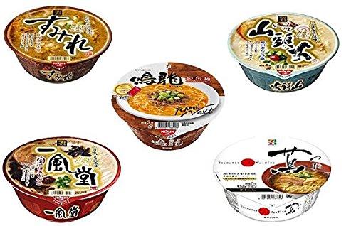 TSUTA & NAKIRYU & IPPUDO & SUMIRE & SANTOKA Japanese Famous Ramen Shop's Instant Noodle 蔦 & 鳴龍 & 一風堂 & 純連 & 山頭火 5 cups One Star In Michelin Of Japan Ship from Japan