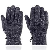 UNDER ZERO UO Winter Warm Men's Gloves Soft Lining Running Gloves Cycling Gloves,Teenage Gloves for Coldweather