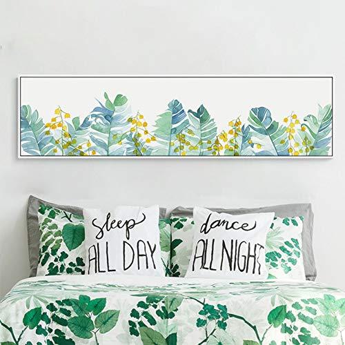 AJKCBAQ groene planten nachtkastje schilderij posters en prints muur kunst foto's voor woonkamer slaapkamer moderne inrichting
