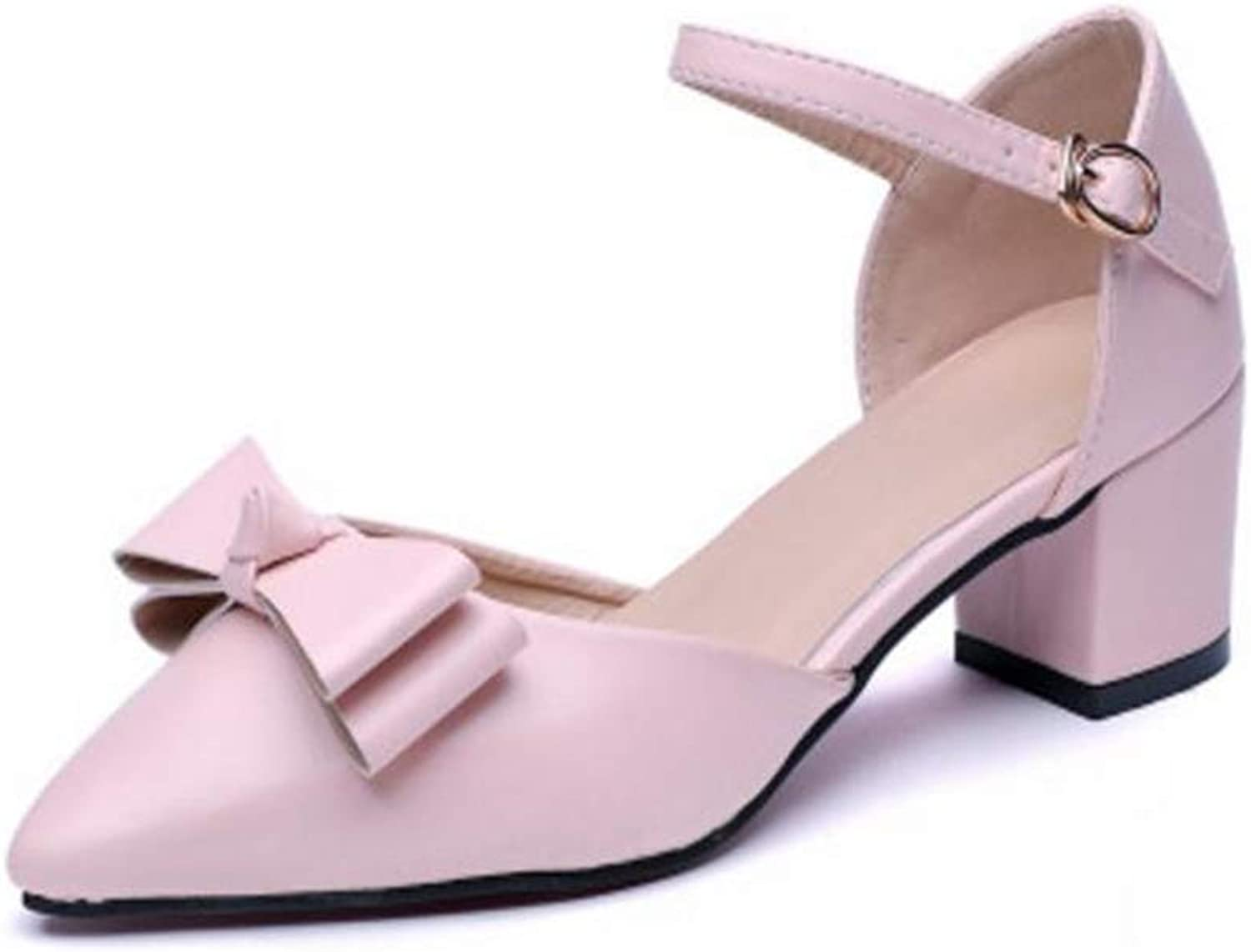 FORTUN Comfortable Heel shoes Women's Thick Heel Casual shoes Cute Sandals