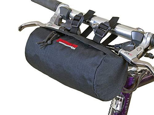 Bushwhacker Waco Black - Bicycle Handlebar & Seat Bag Cycling Pack Bike Cylinder Saddle Bag Frame Rear Front Accessories Snowmobile