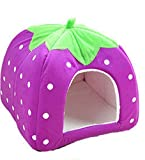 Cdet Hundestation Katzennest Haustier Nest Heimtierbedarf Erdbeernest Hundebett (Purple M)