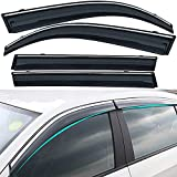 Deflectores de viento para Mitsubishi lancer 2006-2015, Visera parasol/deflectores de protección contra la lluvia de la ventana de la puerta lateral del coche