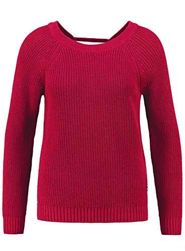 KEY LARGO Damen Pullover Funny Round mit Schnürung im Rücken (M, Red)