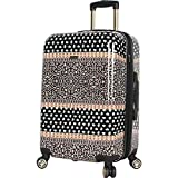 BCBG Desert Patches 24 Inch Hardside Checked Spinner Luggage (Desert Patches)