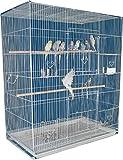 Large Breeder Breeding Bird Flight Cage for Small Size Aviary Canary Lovebird Budgie Cockatiel Sugar Glider Finch Parakeet (30' x 18' x 36'H, White)