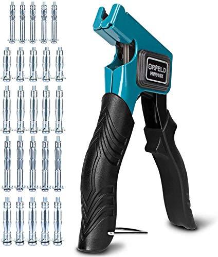 Orfeld Montagezange für Hohlraumdübel, Ergonomischer Hohlraumdübelzange, Funktioniert perfekt mit M3 / M4 / M5 / M6/ M8 Metall-Hohlraumdübel