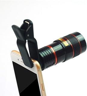 L.J.JZDY telefonglas mobilteleskop universal 8X teleobjektiv HD fotografi 12-fack objektiv resefoto ABS-material 8-fack