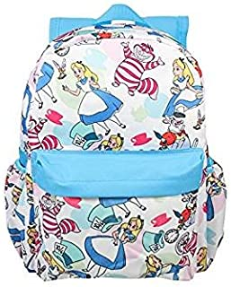 Disney Princess Alice In Wonderland White All-Over Print Large Girls' School Backpack