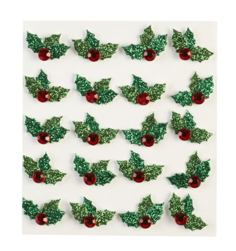 Jolee's Boutique Christmas Holly Dimensional Stickers