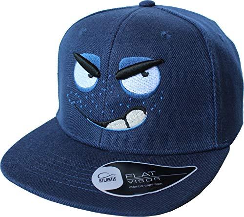 Kinder Cap: Frechdachs - Mütze für Kinder - Smiley Monster Lustig Comic - Geschenk für Junge-n & Mädchen - Kappe Baseball-Cap Basecap - Kinder-Geburtstag Schule Sport Sonnenschutz (One Size)