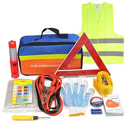POKIENE Kit de Emergencia para Coche 12 en 1